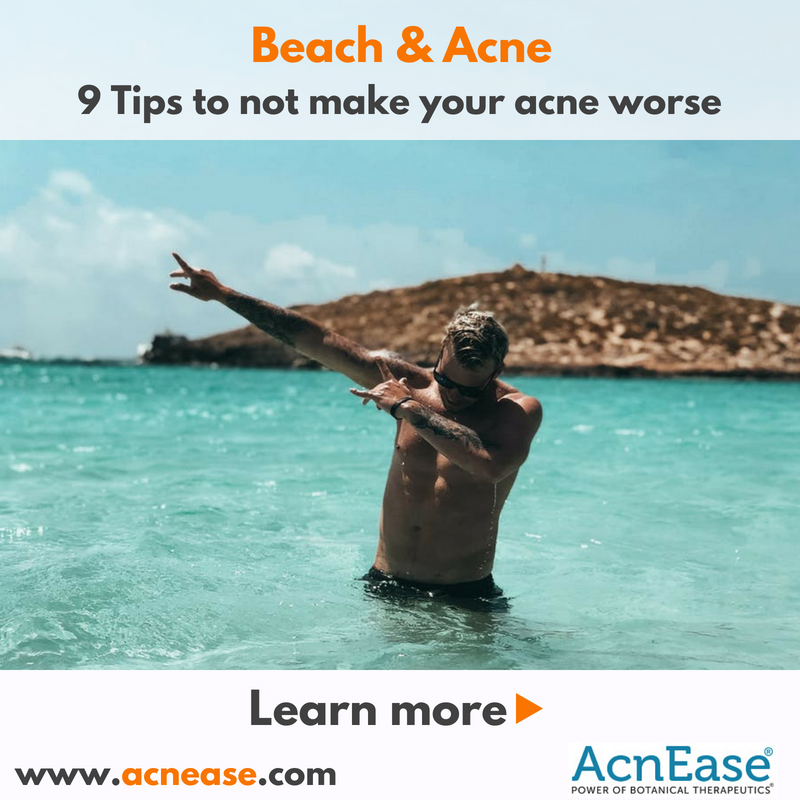 How to Not Exacerbate Acne When Going to the Beach?