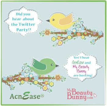 """AcnEase """"Be Acne Free!""""  Twitter Party"""